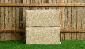 two bales of hemp bedding for chicken coop
