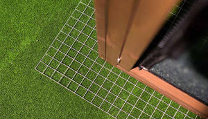 wire mesh flooring for coop predator protection