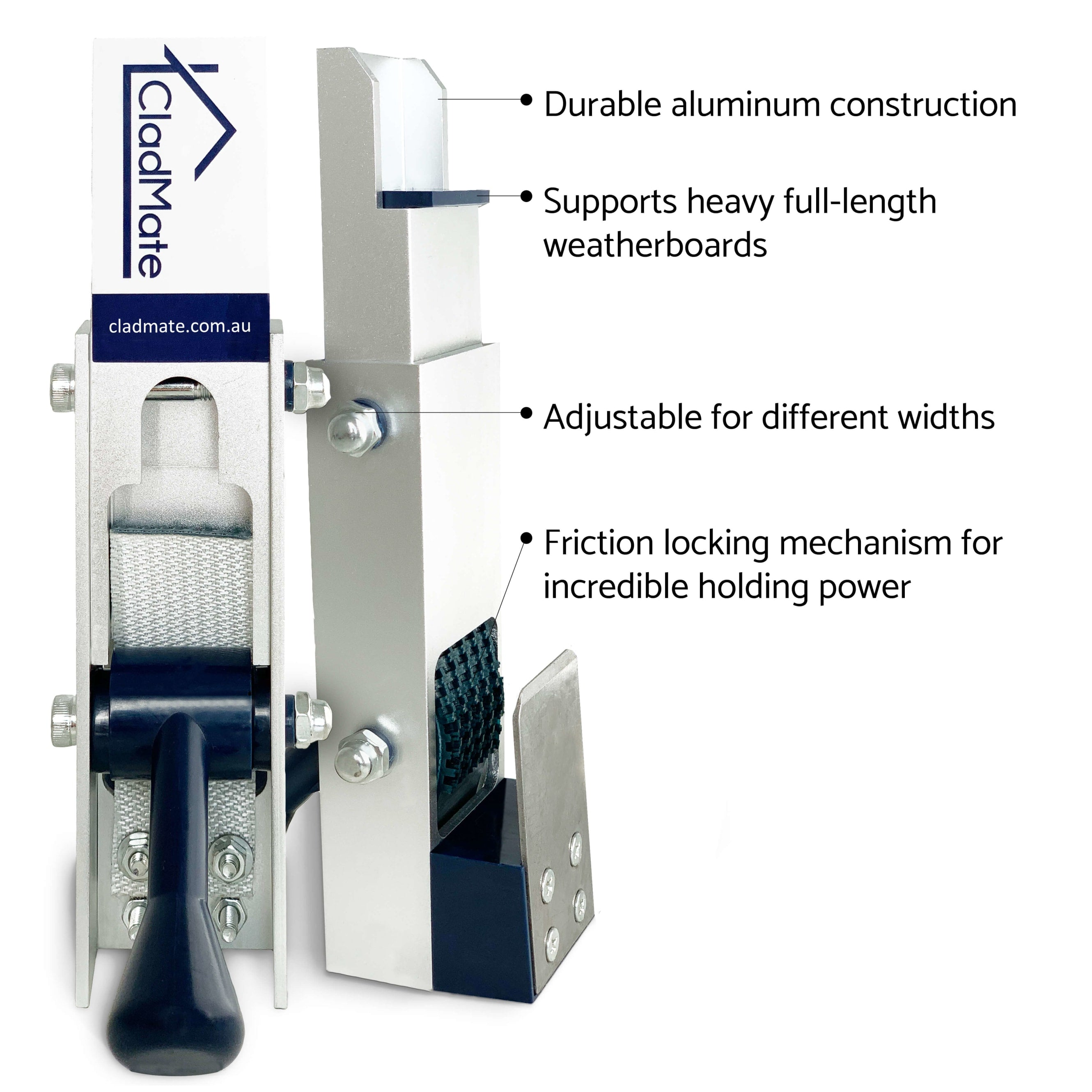 Tradies love CladMate weatherboard clamps for Weatherboard Installation