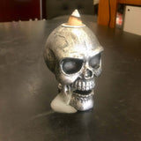 Backflow incense burner skull