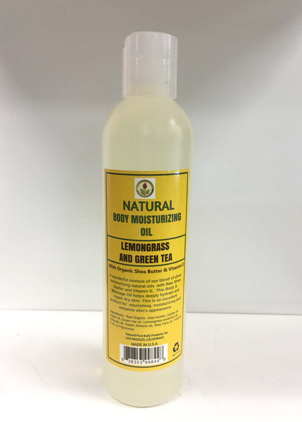 Lemongrass and Green Tea Body Moisturizing Oil