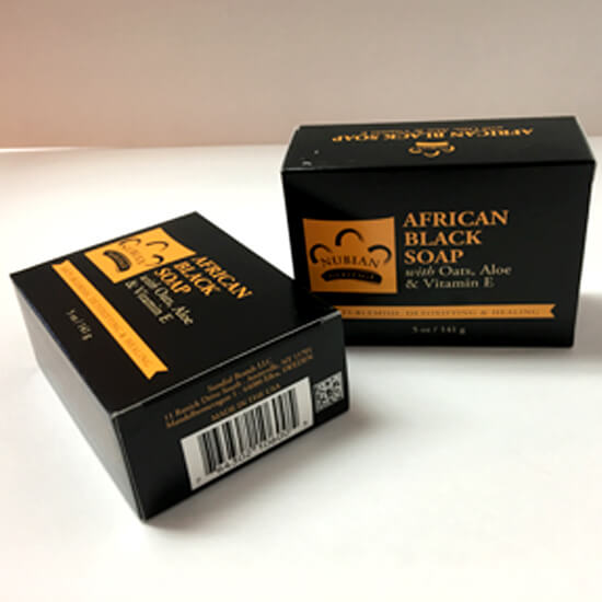 Buy African Black Soap with Oats, Aloe and Vitamin E