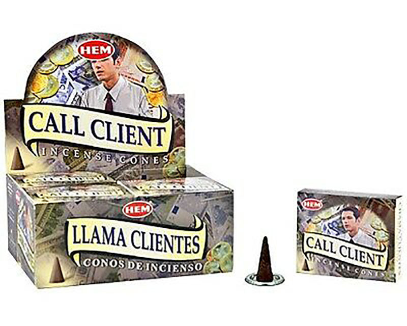 Call client Hem Incense Cone