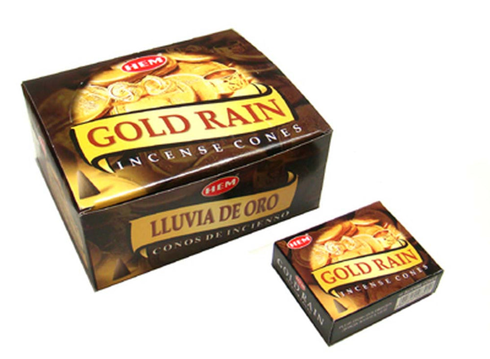 Gold Rain Hem Incense Cone