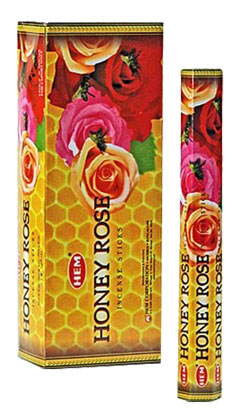 Buy Hem Honey Rose Incense Hexa
