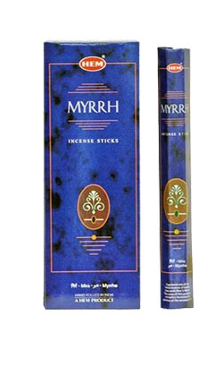 Buy Hem Myrrh Incense Hexa