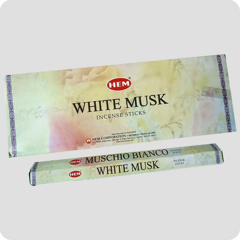 Buy Hem White Musk Incense Hexa