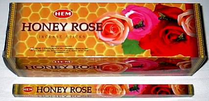 Buy Hem Honey Rose Incense Stick