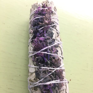 White Sage with Lavender Flower- 5""