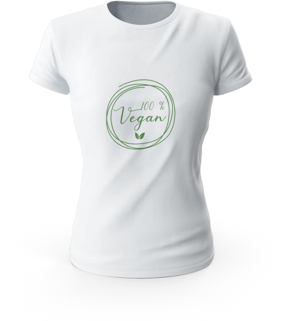 T-shirt green vegan 2