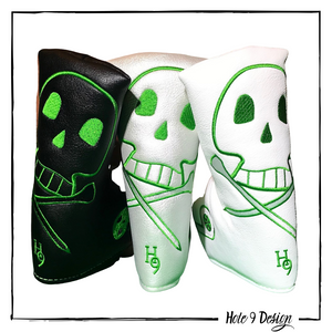 Black & White Skull Tees Putter Cover