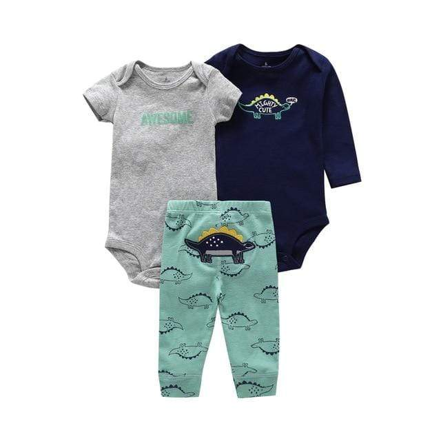 Carter's Newborn Baby Short & Long Sleeve Infants Cotton Bodysuit + pants 3 Piece Set Toddlers Onesie, Jumpsuits & Romper's baby shop 2019