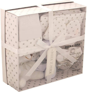 Newborn Baby 7 pcs Gift Set 0 - 3 Months. White Gift Set baby clothes shop uk