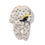 Newborn Baby Double Knitted Wool Dinosaur Rompers
