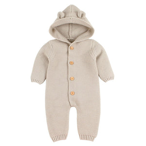 Newborn Baby Hooded Romper ( Newborn - 24 Months ) Baby Romper baby clothes shop uk