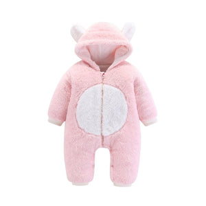 Classic Pink Hooded Baby Romper, Onesie 0 - 24 Months Baby Romper baby clothes shop uk