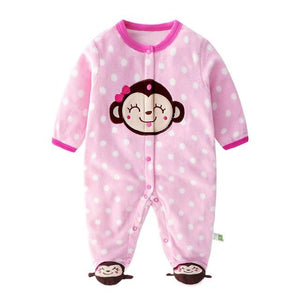 Newborn Baby Long Sleeved Ch Ch Cheeky Monkey  Fleeced  Baby bodysuit / Romper | 0 - 12 Months Baby Romper baby clothes shop uk