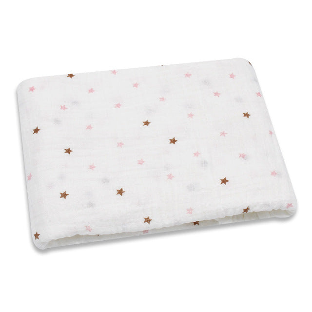 Baby Blanket 100% Organic Cotton Baby Wrap | Newborn Baby Swaddle |