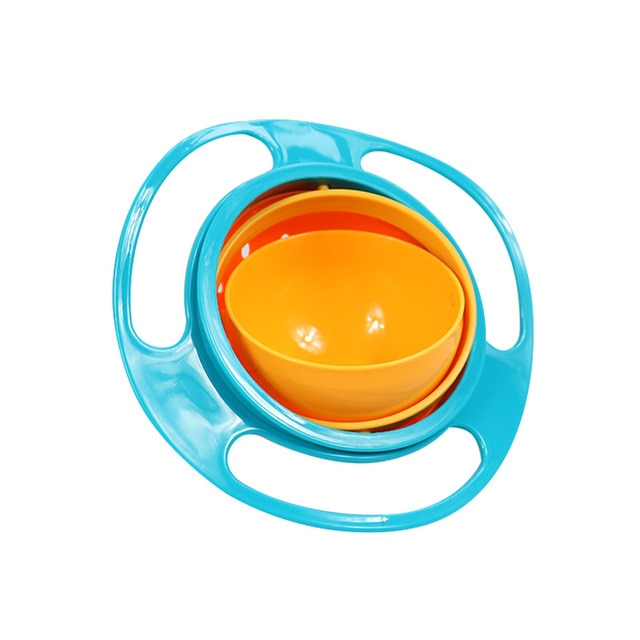 Baby Universal Gyro Bowl | Baby Rotary Balance 360 Spill-Proof Solid Feeding Dish | Bowl  baby clothes shop uk