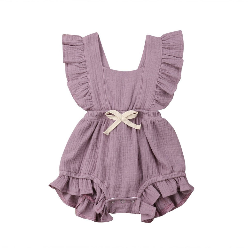 Baby Girl Ruffle Romper | Baby Girls Jumpsuit | Summer Outfit / Sunsuit Baby Romper baby clothes shop uk