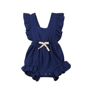 Baby Romper Baby Girl Ruffle Romper | Baby Girls Jumpsuit | Summer Outfit / Sunsuit
