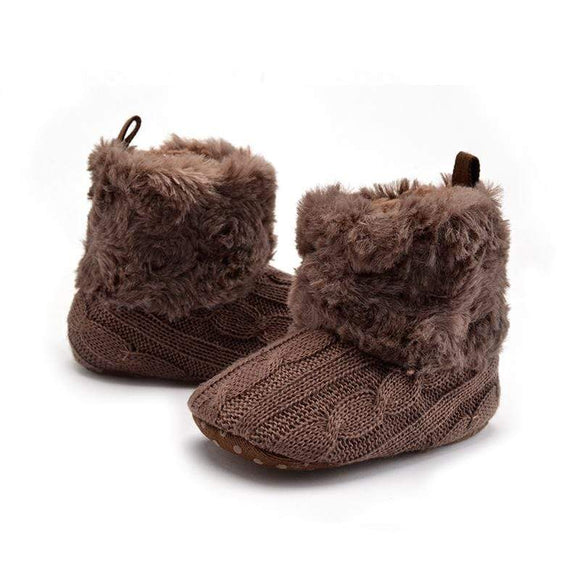 Newborn Brand Infant Baby Toddler Girls Bow Crib Shoes Warm Boots Prewalker 0-18 Months - Baby clothes Shoes baby shop 2019