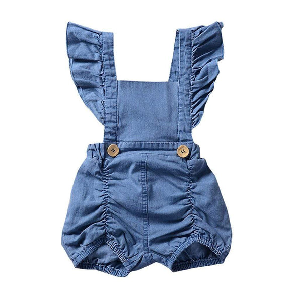 Baby Girl Denim Ruffles Romper Jumpsuit Sunsuit Outfits - Baby clothes Toddler Sets baby shop 2019