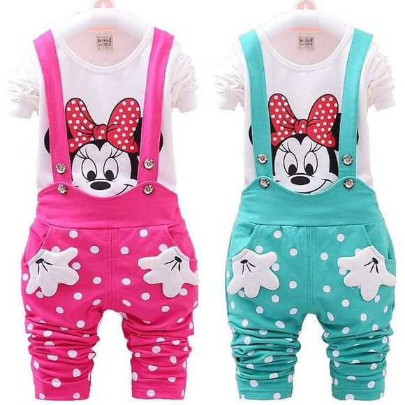 Girls Minnie Mouse Tops & Bottom - Baby clothes Toddler Sets baby shop 2019