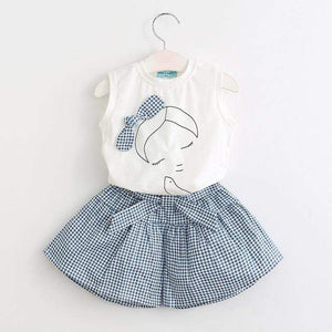 Baby Girl Tshirt and Skirt | Baby Girls Summer Outfit 2 Piece Set Toddler Sets baby clothes shop uk