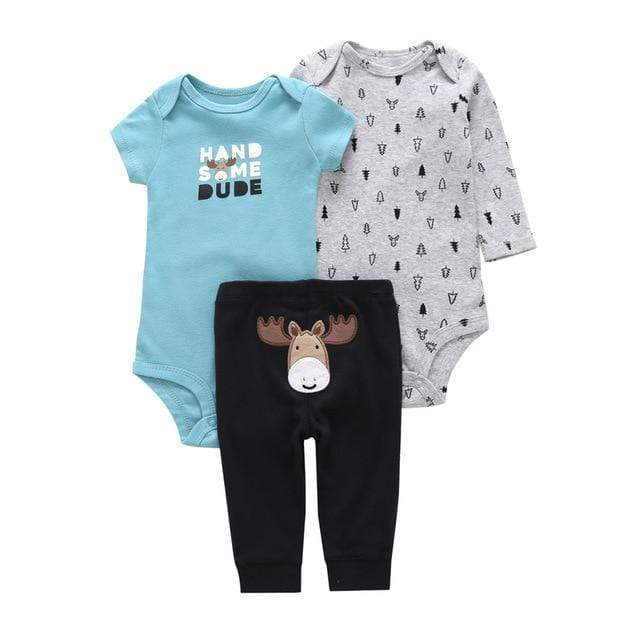 Carter's Newborn Baby Short & Long Sleeve Infants Cotton Bodysuit + pants 3PCS Set Toddlers Onesie, Jumpsuits & Romper's baby shop 2019
