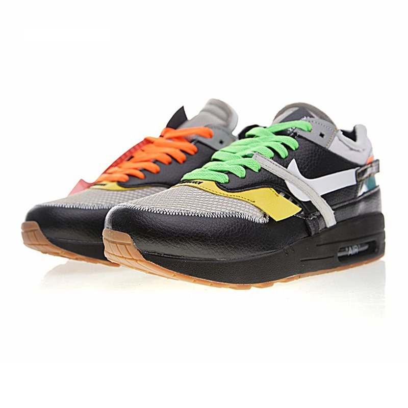 sale retailer 3b84d 99e84 Original New Arrival Authentic Nike Air Max 90 X OFF-WHITE OW Men's  Breathable Running Shoes Sport Outdoor Sneakers AA7293-100