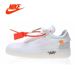 new styles d10dd a9d0d Original New Arrival Authentic Nike Air X Force 1 Low Ow AF1 Men  Skateboarding Shoes Sport Outdoor Sneakers A04606-100