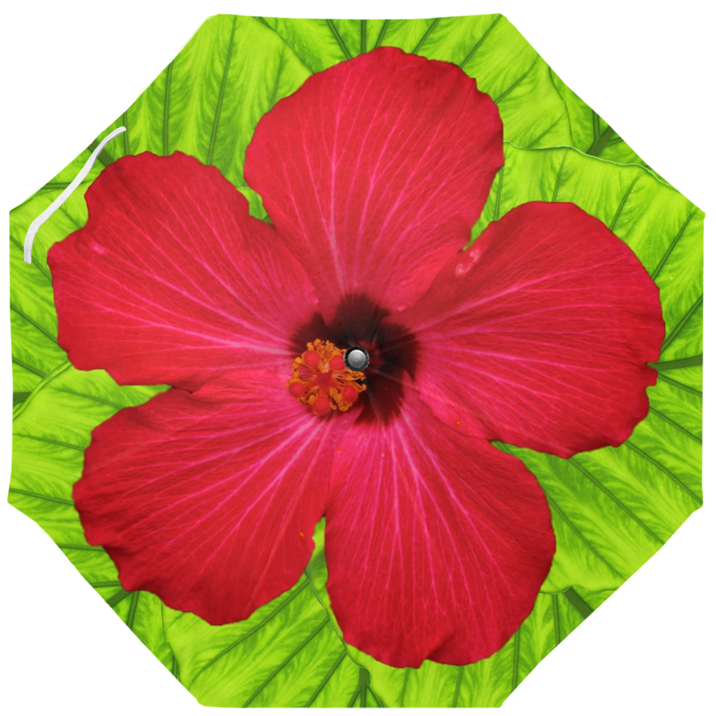 Umbrella - Hibiscus and Tropical Leaves