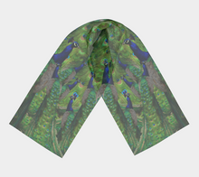 Load image into Gallery viewer, Beautiful Peacock Scarf - Peacocks Galore!
