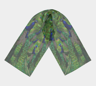 Beautiful Peacock Scarf - Peacocks Galore!