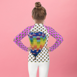 Girls Rash Guard- Hot Air Balloons