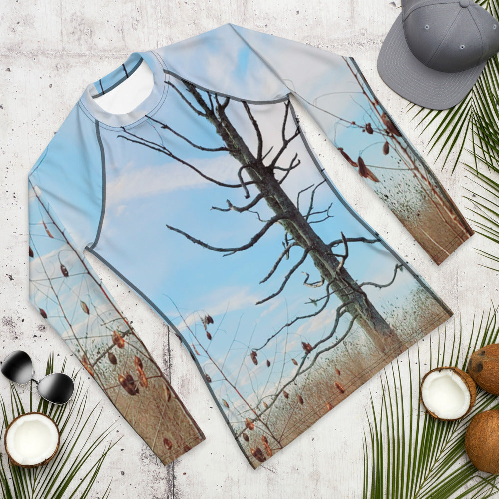 Men's Rash Guard - Tree - The Tree Stands Alone