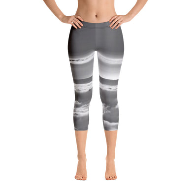 Capri Leggings - High in the Sky - Floating on Clouds - Clouds