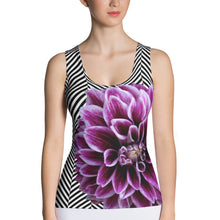 Load image into Gallery viewer, Purple Dahlia Tank Top - Purple Flower Tank Top - Floral Tank Top