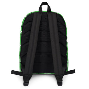 Tennis Theme Backpack - Tennis Courts, Racquets and Balls