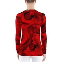 Load image into Gallery viewer, Women's Rash Guard - UPF Shirt - Sun Shirt - Roses and Peacock