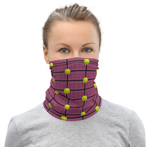 Neck Gaiter - Mask - Face Mask - Face Protection - Tennis Courts - Tennis Balls - Tennis - Tennis Theme - Tennis Mask
