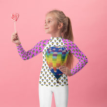 Load image into Gallery viewer, Girls Rash Guard- Hot Air Balloons