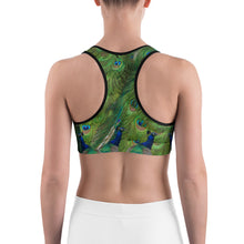 Load image into Gallery viewer, Sports bra - Roses - Peacocks