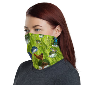 Neck gaiter - colorful, creative, fish, ferns, face mask, face shield