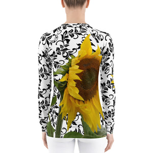 Women's Rash Guard - Sunflower - Sunflower Shirt - Sun Protection Shirt