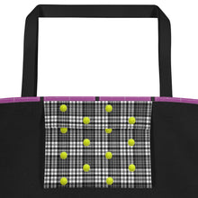 Load image into Gallery viewer, Tennis Tote Bag - Tennis Bag - Tennis Theme Bag - Tennis Gift - Tennis Lover