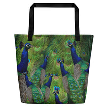 Load image into Gallery viewer, Peacock Tote Bag - Peacock Gift - Peacock Bag