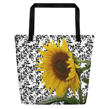 Load image into Gallery viewer, Sunflower Tote Bag - Tote Bag - Floral Tote Bag