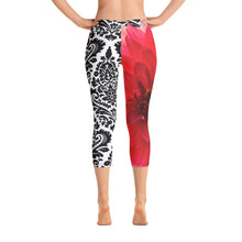 Load image into Gallery viewer, Capri Leggings - Pink Floral Print